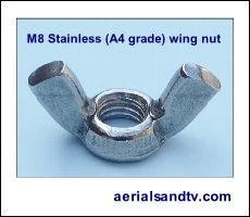 Wing nut M8 stainless steel 230W L5