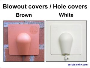 Blowout covers brown and white 552W L5