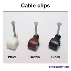 Cable clips black brown and white 420Sq L5
