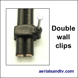 Cable clips for double Twinsat cable 270Sq L5
