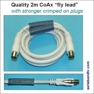 CoAx 2m quality fly lead 575Sq L5