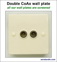 CoAx double wall plate screened 400W L5