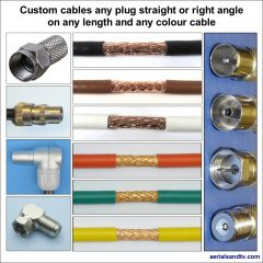 Custom cables any plug any length and colour cable 1022Sq L5