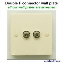 F connector double wall plate screened 400Sq L5