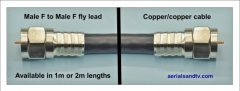 F connector quality fly lead 1m or 2m long 210H L5