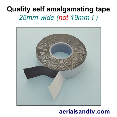 Self amalgamating tape 25mm wide 400Sq L5