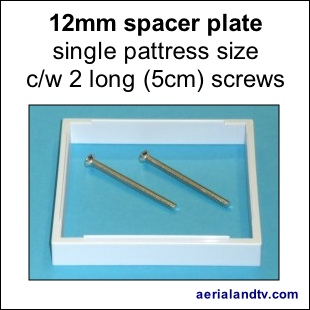 Spacer plate 12mm for single pattress 310Sq L5