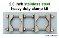 Stainless steel 2 inch heavy duty clamp kit 500W L5