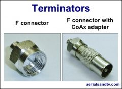 Terminators F connector or CoAx 400W L5
