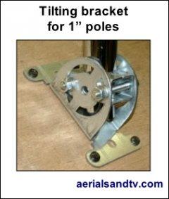 Tilting bracket for 1 inch poles 253W L5