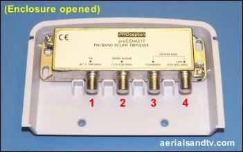 Triplexer opened 351W L5