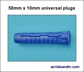 Universal wall plug 50mm x 10mm 300H L5