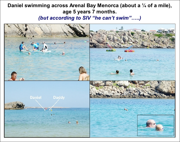 Daniel swimming across Arenal Bay Menorca at 5yrs old 2 600W L1