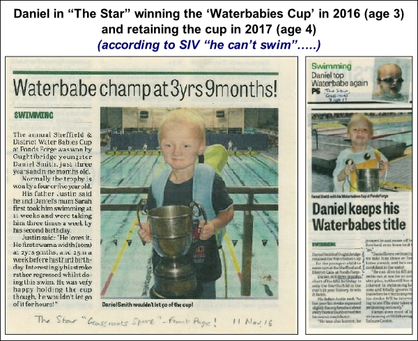 Daniel winning the Water Babies cup twice 600W L1