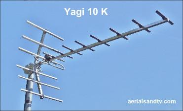 Yagi 10K tv aerial 371W L10