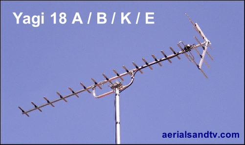 ATV's choice of TV aerial - the Yagi18 - a great aerial 501W L10