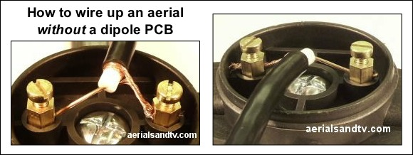 How to wire up an aerial without a dipole PCB 580W L10