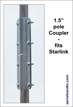 1.5 inch pole coupler - fits Starlink 300W L5