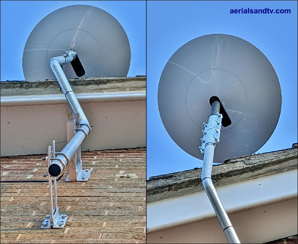 Starlink install on cranked pole  600W L5