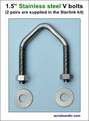 1.5in stainless steel V bolt 400H L5